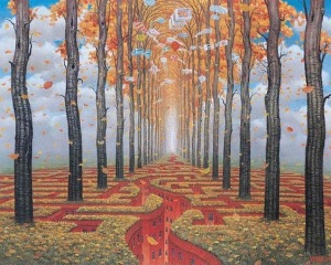Autumn Labyrinth - Jacek Yerka